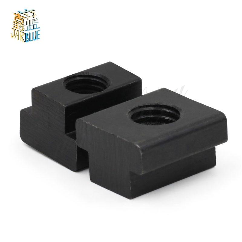 5 шт. M5 M6 M8 M10 M12 M14 DIN508 черная окись класса 8,8 углеродистая сталь Т-образный слот гайка прорезанный слот т-гайки мебель HW113
