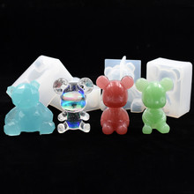 SNASAN Resin Silicone Mold 3D animal bear pendant handmade DIY Jewelry Making Crafts epoxy resin molds Mould