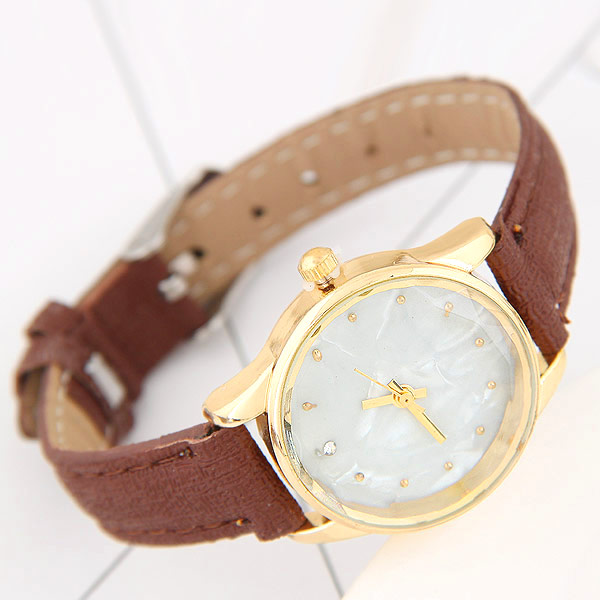 NanBo New Luxury Watch Fashion Läder Klocka för Man Quartz Armbandsur Orologio Uomo Hot Sales