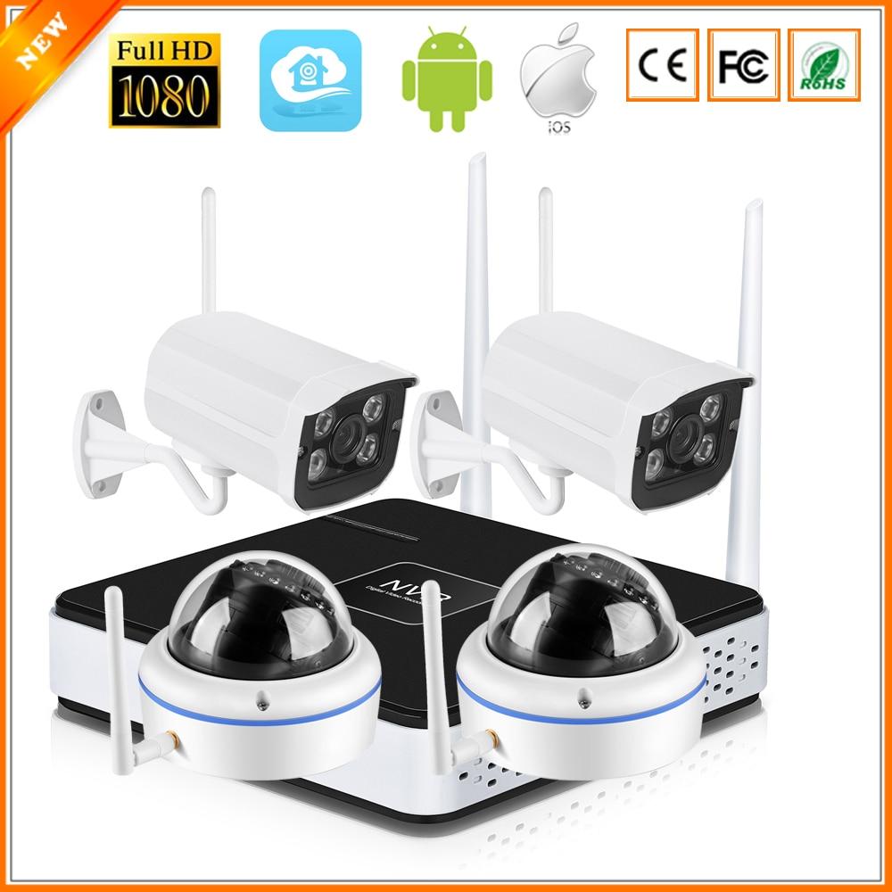 bilder für BESDER P2P Drahtlose 4CH CCTV-System Drahtlose NVR & Wifi IP Außenkamera Vandalensichere Dome-kamera Wifi 1080 P 960 P 720 P
