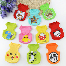 Dog Vest Summer Cartoon Clothes Pet Cat Shirt Cute Breathable Pets Clothing for Small Large Dogs Products Yorkshi