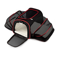Expandable Portable Pet Dog Carrier Car Travel Bag Oxford Breathable Cat Carrier Car Travel Outdoor Sport Accessories
