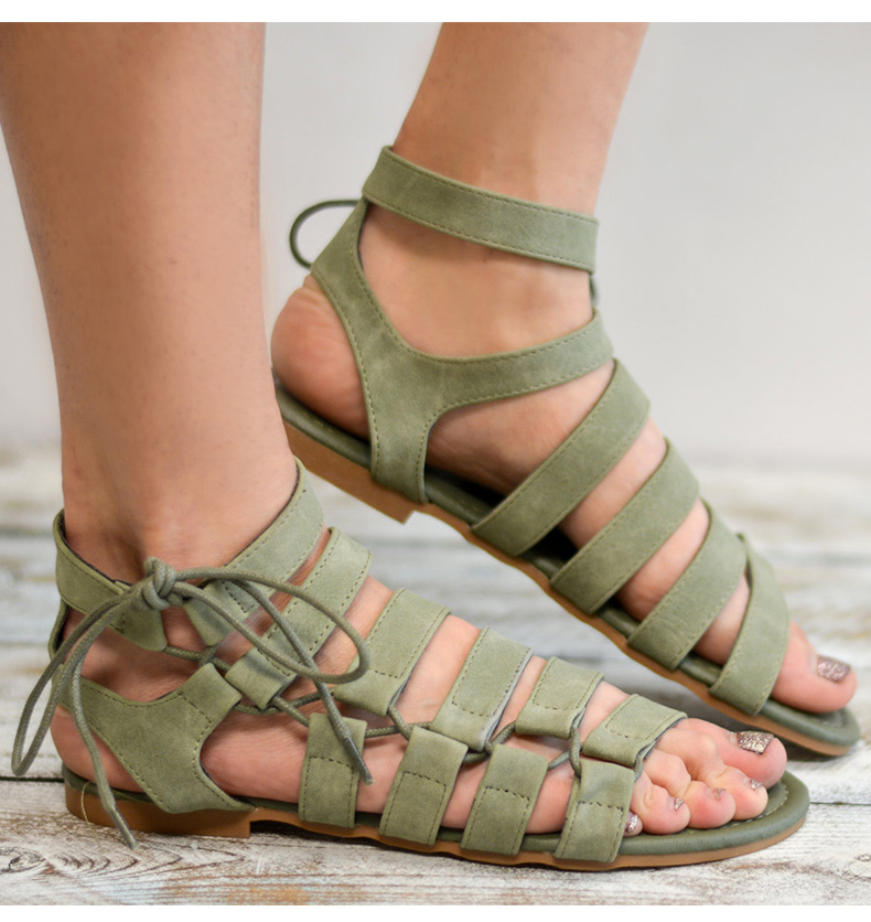 Plus Size 34-43 Gladiator Sandals 2018 Summer Women Sandals New Style Casual Summer Shoes Woman Beach Flat Sandals Shoes Ladies vzehcu jelly sandals summer shoes casual woman gladiator flats sandals fashion hollow sandals plus size 36 41 2e03