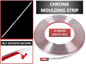 Image 4 - 10mm x 15 m 자동차 크롬 스타일링 장식 몰딩 트림 스트립 테이프 자동 diy 보호 스티커 접착제 대부분의 자동차에 맞는 새로운