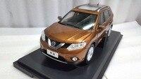 1:18 литья под давлением модели для Nissan X trail Rogue 2014 Золото внедорожник сплава игрушечный автомобиль миниатюрный коллекция подарки X Trail xtrail