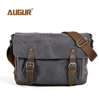 AUGUR New Men Bag Fashion Canvas Shoulder Bags For Men's Waterproof Functional Shoulder Messenger Bag Male Briefcase Crossbody