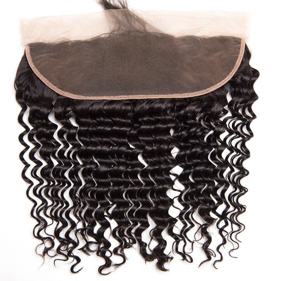 Vague profonde brésilienne oreille à l'oreille pré pincée - Cheveux humains (noir) - Photo 3