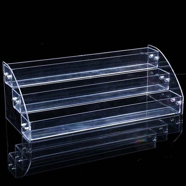 30 Bottles Nail Polish Acrylic Makeup Cosmetic 3 Tiers Clear Organizer Lipstick Jewelry Display Stand Holder Nail Polish Rack