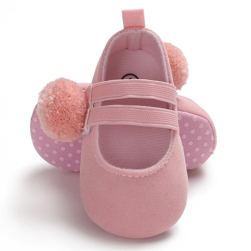 Newborn to 12 Month Baby Girl Soft Sole Pram Shoes Infant Mary Janes Dress Shoes