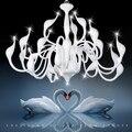 Светодиодный G4 скандинавский Железный лебедь  светодиодный подвесной светильник для столовой  фойе  спальни  подвесной светильник
