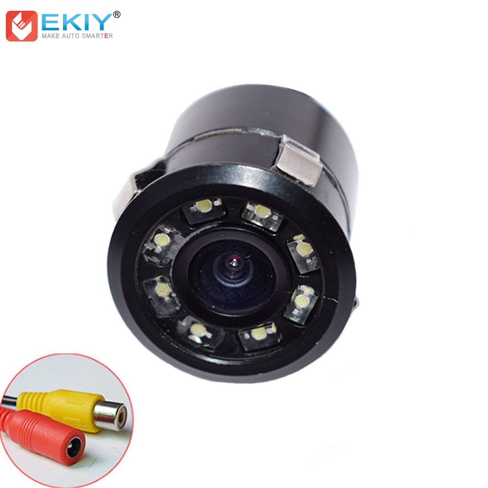 EKIY 8 LED Licht Universal Auto Rückansicht Kamera mit Reverse Bild HD CCD Parkplatz Back Up Kamera Wasserdichte Nacht vision