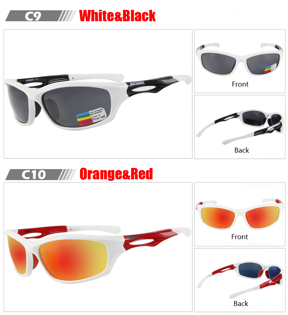 6a9049a1d7 Queshark TR90 UV400 HD hombres mujeres polarizadas ciclismo gafas de sol  bicicleta deporte gafas moto gafas escalada senderismo pesca gafas