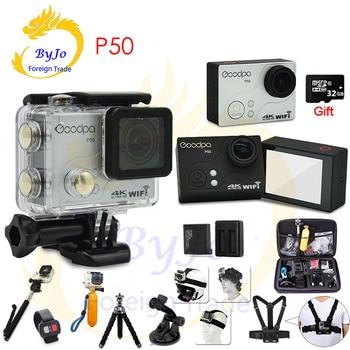 Goodpa P50 Ultra HD 4k 30fps 2.7k 30fps Sports Camera waterproof WIFI remote control limit motion DV 32G SD card gift