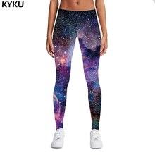 Купить с кэшбэком KYKU Brand New 3D Print Galaxy Leggings Fitness Legins Gothic Fashion Slim Sexy Leggins Women Leggings Push Up Woman Pants Sexy