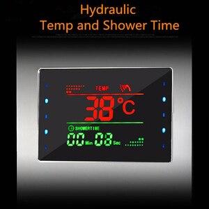 Image 5 - ULGKSDก๊อกน้ำห้องอาบน้ำฝักบัวนวดJets Tub Showerคอลัมน์แตะLEDน้ำตกRain ShowerแผงPara Douche