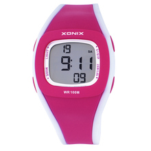 Nuevo 2016 niños relojes Gif para sus Hijos, estilo simple Caramelo del reloj digital, mujeres de la muchacha 100 M relojes de pulsera a prueba de agua
