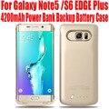 50 unids/lote fedex envío la caja de batería para samsung galaxy note5 n9200 s6 edge plus g9280 4200 mah banco de energía de respaldo externa n58