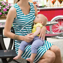 Womens Maternity Clothing Dresses MAMA BABY Nursing Breastfeeding Sleeveless Fashion Dress Jersey summer dress