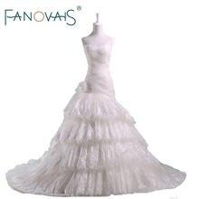 2018 New Arrival Cake Layer Wedding Dresses Lace Pricess Elegant Vintage Bridal  Gowns Vestido de Novia Wedding Gowns 3873769925af
