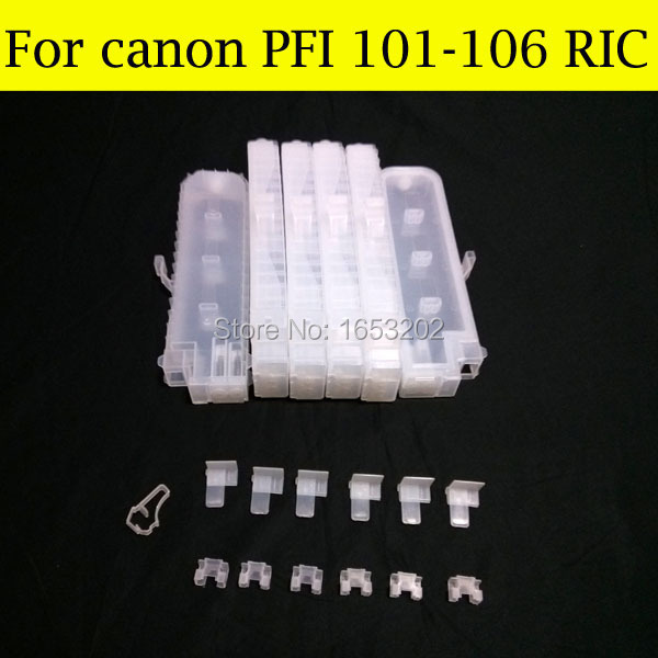 12 Color/Set For Canon Ink Cartridge Without Chips For Canon PFI-101 PFI-103 For Canon iPF6100 ipf5100 Printer 12 p refillable ink cartridge pfi 106 for canon ipf6400 ipf6460 ipf6410s ipf6410se printer can use for your original chip