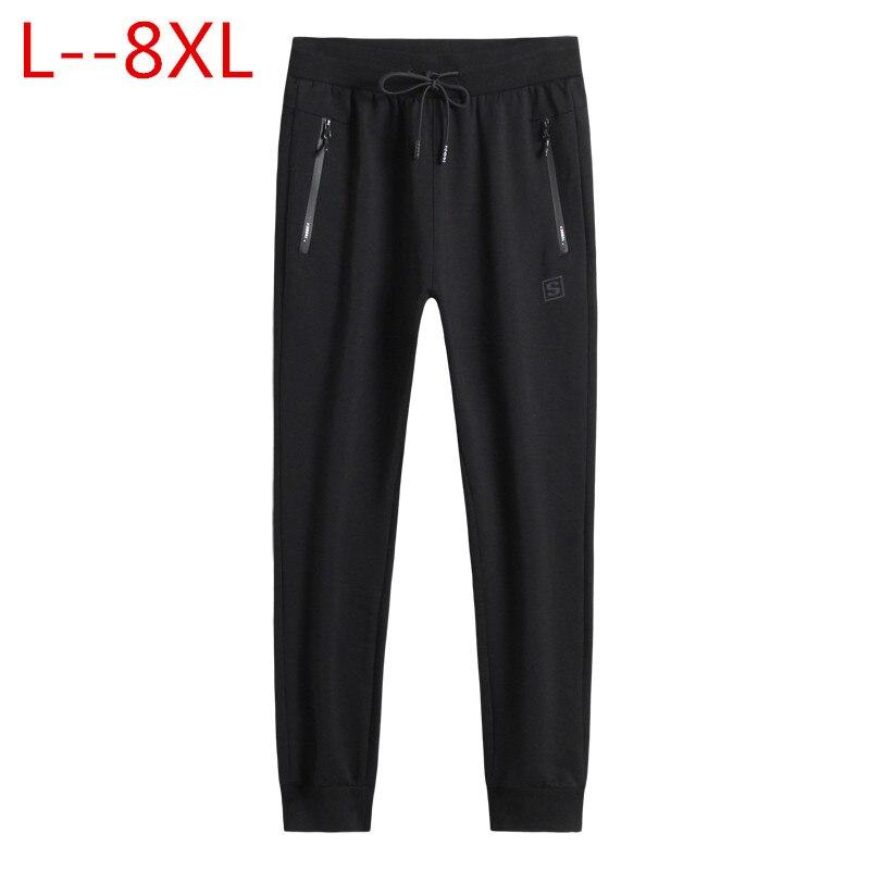 Grande taille 8XL 6XL 5XL nouvelle mode cordon hommes pantalons haute qualité coton hommes Joggers pantalon de survêtement décontracté hommes pantalons