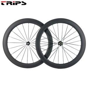 Image 4 - Ruedas de carbono de 38mm, 50mm, 60mm, 88mm, 700C clincher, R36, freno de basalto de eje tubular de cerámica, juego de ruedas de bicicleta de carretera