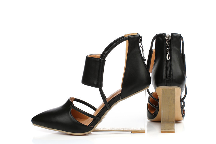 2018 Coins Nouvelle Chaussures Hauts De Femmes Véritable Talons Arrivée Robe Pointu Noir or {zorssar} Mode En Cuir Pompes Taille Grande Bout q1dOv