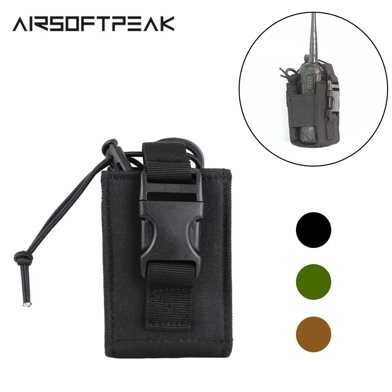 Tactical Military Walkie-Talkie Pouch Outdoor Molle Nylon Bags Pendant Radio Walkie Talkie Holders Magazine Pouch Package Pocket