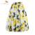 Sishion 50 s faldas saias florais das mulheres verão azul amarelo lemon plus size casual retro vintage midi skater saia plissada vd0355