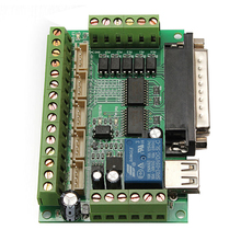 High Quality Upgraded 5 Axis CNC Breakout Board for Stepper Motor Driver Mach3 + USB Cable