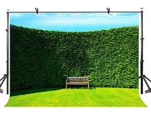 7x5ft Creeper Backdrop Wall Covered Green Photographic Background and Studio Photography Props