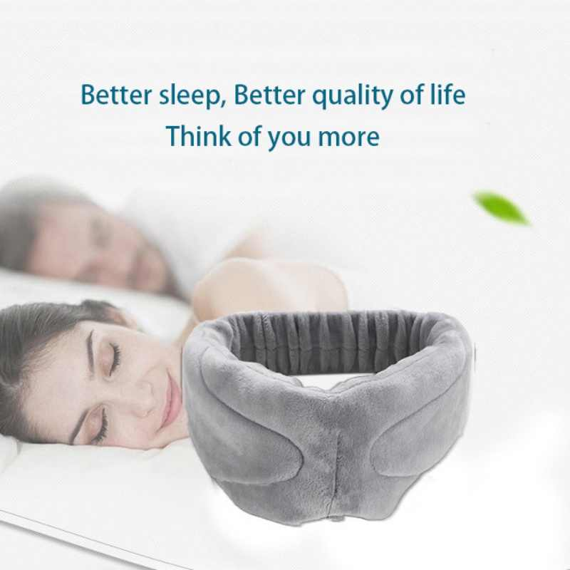 Anti-noise Sleeping Earphones Bundle Music Headband Wireless Stereo  Bluetooth Headset Sleep Mask for iPhone Android Phones