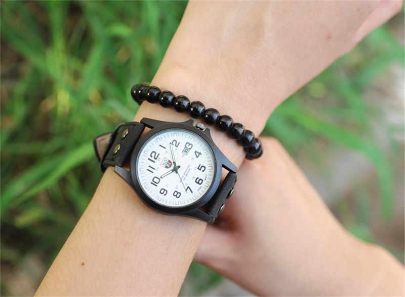 SOKI reloj de los Hombres Nuevo mans reloj hombres fecha relojes correa de cuero deporte de cuarzo reloj de pulsera militar relatio masculino 6 color reloj