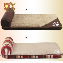 лучшая цена Large Dogs Can be Removed and Washed Autumn and Winter Dog Mats 2019 Lamb Fleece Pet Kennel Dog Bed Golden Retriever Beds Sofas