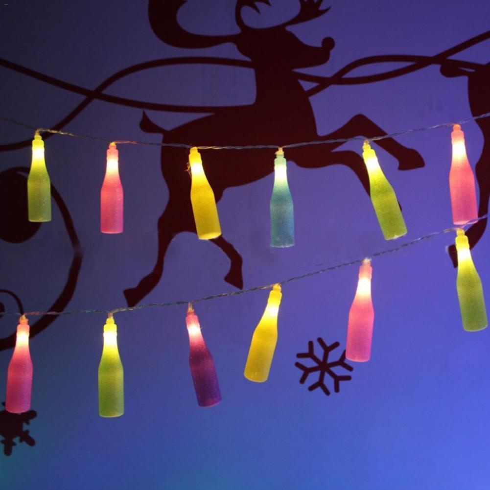 Fashion Light Holiday Delicate 20 Led Novelty Beer Bottle String Lights Wedding Garden Party Valentine's Day Decorations Lighting Strings     - title=
