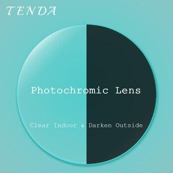 TendaGlasses 1.56 1.61 1.67 Single Vision Plastic Resin Photochromic Lens Transition Prescription Lenses For Myopia Reading