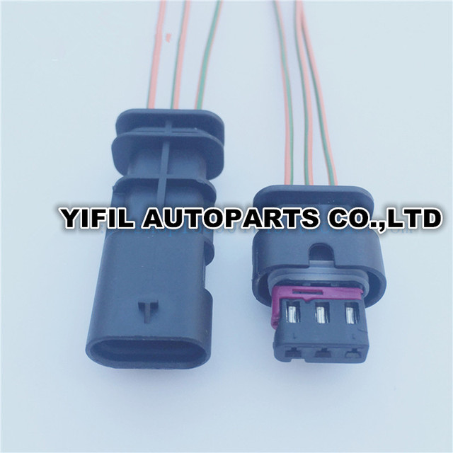 5sets/lot 3 Pin/Way Female And Male Reversing Radar Plug Connector ...
