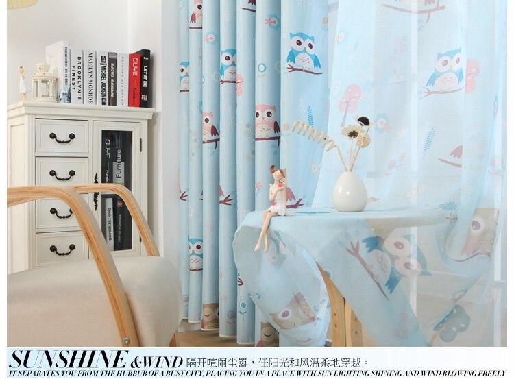 Gordijnen Slaapkamer Kind : Populaire mooie uil custom gordijn voor jongens en meisjes groen