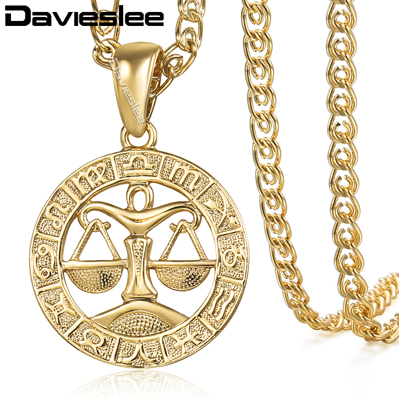 Aliexpress Com Buy 2 In 1 Constellations Pendant Amulet: Aliexpress.com : Buy Davieslee Womens Libra Zodiac Sign