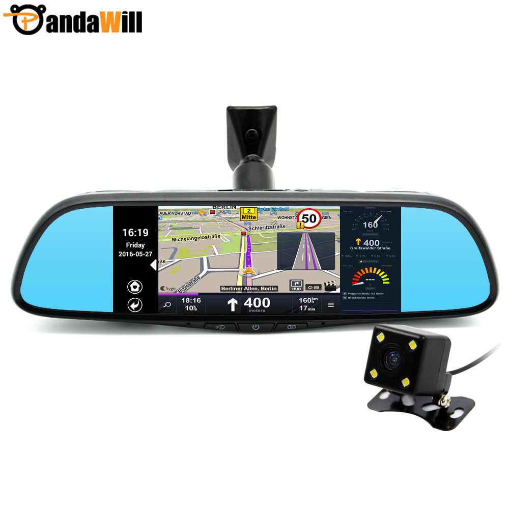 New 7 inch Special Android 4.4 Car DVR Dual Lens Camera Rearview mirror Full HD 1080P Bluetooth WIFI FM Map Free Update ROM 16GB