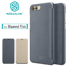 Nillkin Sparkle Flip Case For Huawei Honor V10 cover protect