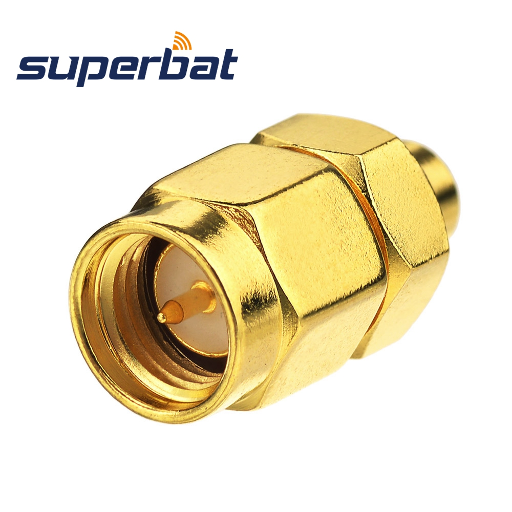 Superbat SMP Plug Male Adapter To SMA Straight Plug Male 50 Ohm RF Coax Adapter Connector