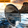 K&F CONCEPT 40.5~ 82MM Slim Fader Variable ND Filter Adjustable ND2 to ND400 Neutral Density for Canon 7D 50D 60D
