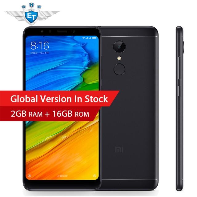 Глобальная версия Xiaomi Redmi 5 2 ГБ Оперативная память 16 ГБ Встроенная память 5.7 ''18:9 полный Экран LTE Snapdragon 450 Octa core мобильный телефон LTE 4 г MIUI 9