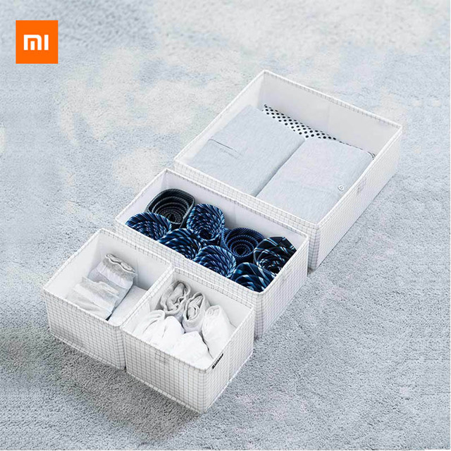 Original Xiaomi Mijia compartimento da gaveta Do Armário de armazenamento Caixa de Armazenamento Meias cueca gravata Adequado para o armário da sala de estudo
