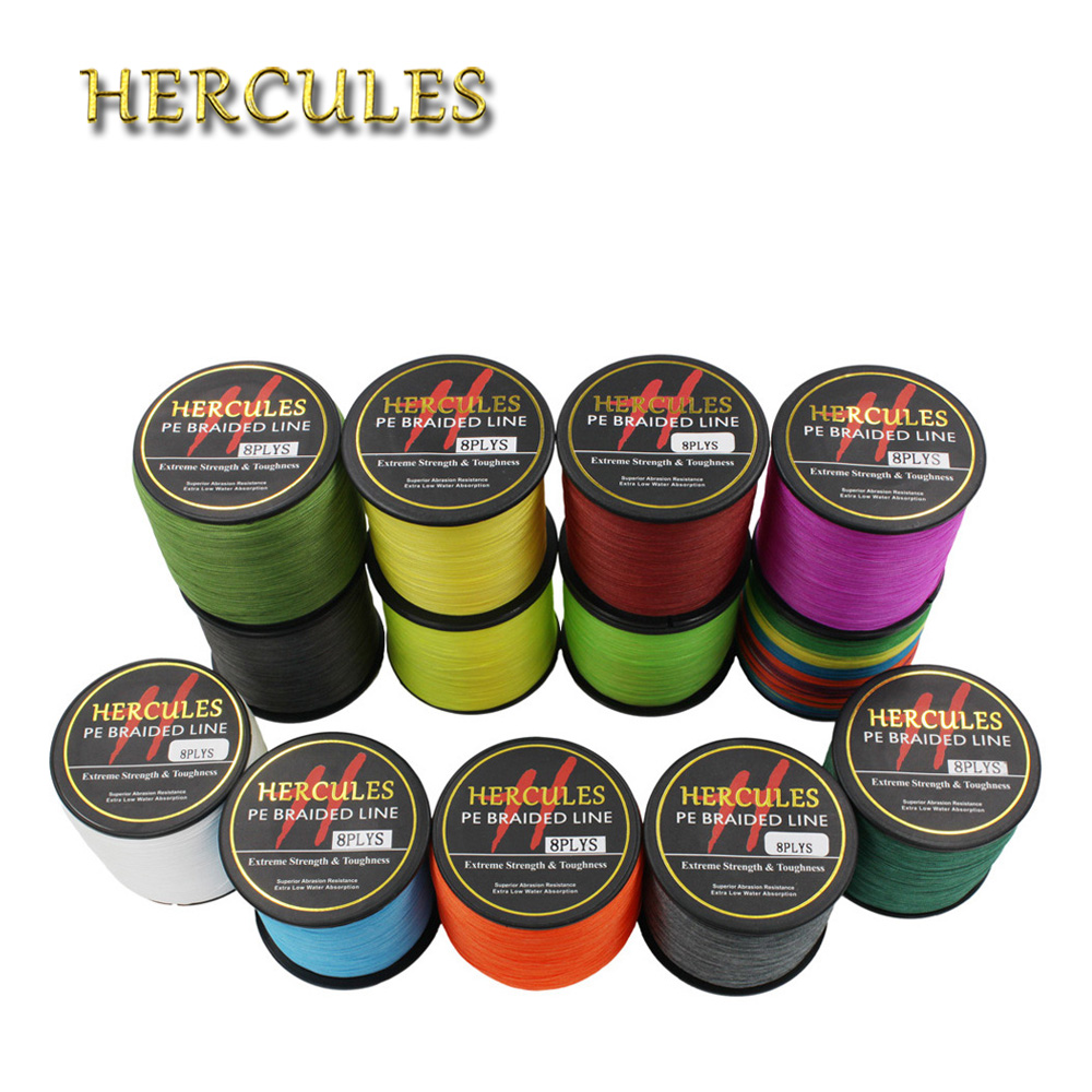 Hercules 100% PE Fishing Line 2187Yds 2000M 15LB 0.16mm Pesca 8 Strands Superior Extreme Braided Fishing Line Lake Carp Fishing 1000m hercules 8 strands super strong 100% pe power ocean fishing superior extreme 1094yds 70lb 0 44mm braid fishing line