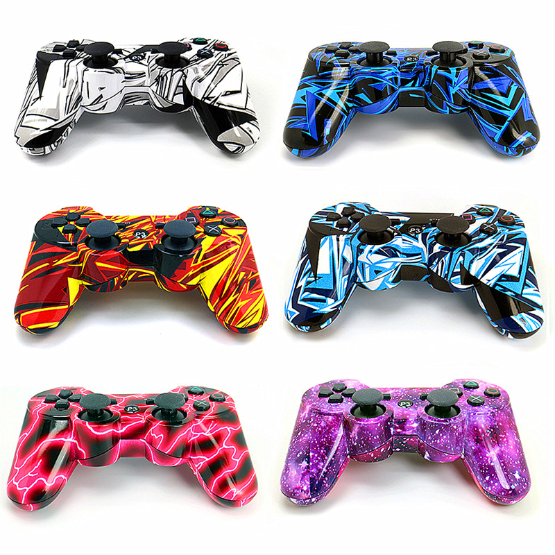 Suitable for Play Station 3 handles PS3 gamepad Bluetooth controller compatible with Playstation 3 wireless joystick joystick sixaxis blueloong 2pcs red and blue color wireless bluetooth joystick gamepad for dualshock 3 playstation 3 ps3 controller