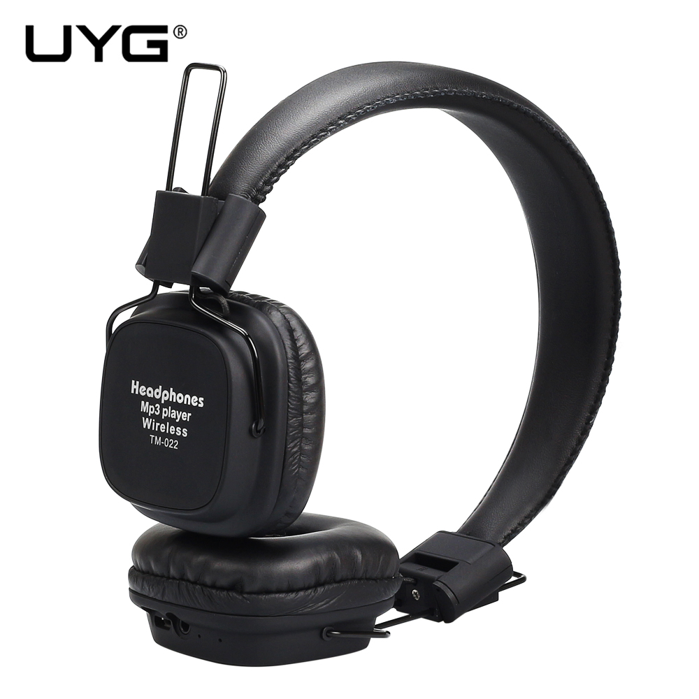 UYG bluetooth headphone wireless earphones headset head phones sport handsfree with microphone Support TF Card FM Radio phone pc