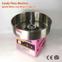 Электрическая машина для изготовления ватных конфет, коммерческая машина для изготовления ватных нитей, 52 см, верхняя чаша розового цвета, 220 В, 1030 Вт, с выдвижным ящиком