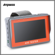 Anpwoo Mini CCTV TVI testi 4.3 inç HD AHD CCTV Tester monitör AHD 1080P Analog kamera Test PTZ UTP kablo test cihazı 12V 1A çıkış